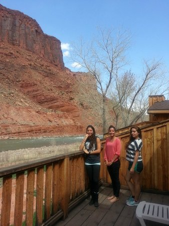 Red Cliffs Lodge: Our patio.  Spectacular!