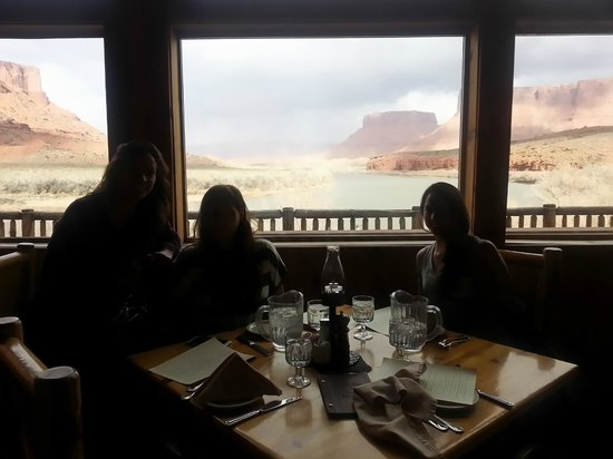 Red Cliffs Lodge: The beautiful view from the Lodge Restaurant.  Great food!