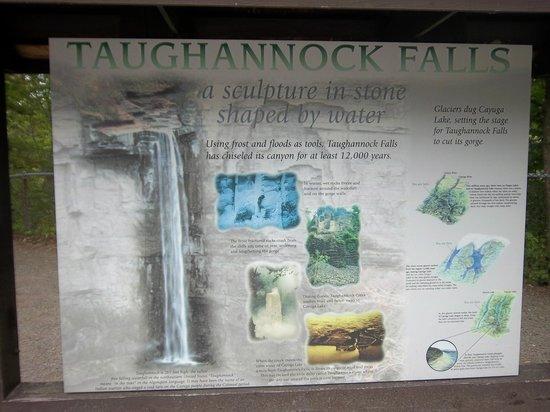 Taughannock Falls State Park : Taughannock Falls sign