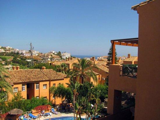 Muthu Grangefield Oasis Club: Vista del Mar Mediterráneo desde la terraza del apartamento