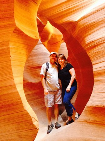 Antelope Lower Canyon : great lighting even with an iphone