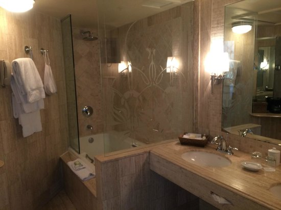Mayfair Hotel & Spa: Bathroom with all granite surfaces
