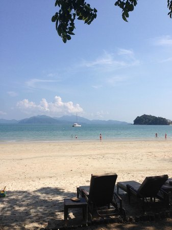 The Datai Langkawi : Perfect beach, Thai Islands in background