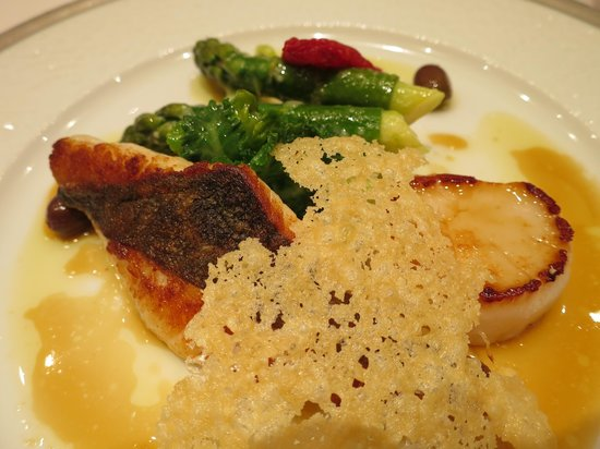Restaurant Feu: pan fried seafood