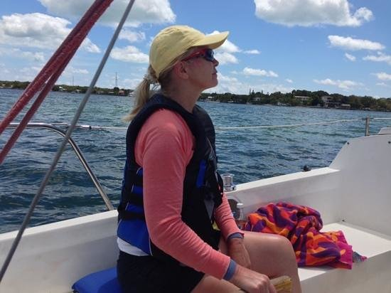 Key Lime Sailing Club and Cottages: sailing in Key Largo bayside