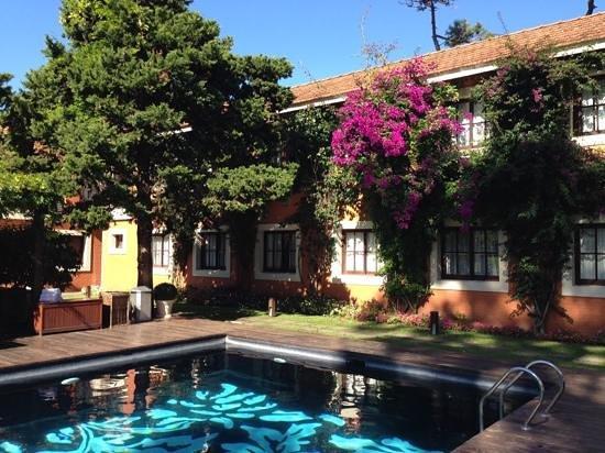 Barradas Parque Hotel & Spa : piscina externa - vista do meu quarto.