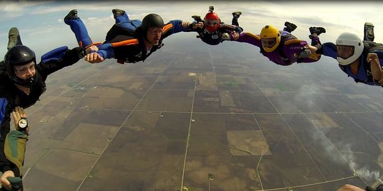 Chicagoland Skydiving Center : First 2 point 8 way