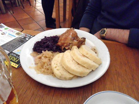 Staromestska Restaurace : roast duck