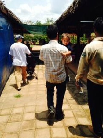 Siem Reap Private Day Tours: Mr. Kriss with my son, Loren, Jet, the tour guide and my Husband.