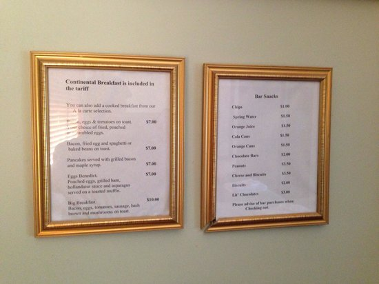 Ainslie Manor: Made to order foods