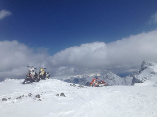 Rocky Mountain Riders Snowmobile Tours and Rentals : check out this view