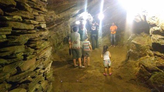 Minas da Passagem: interior da mina