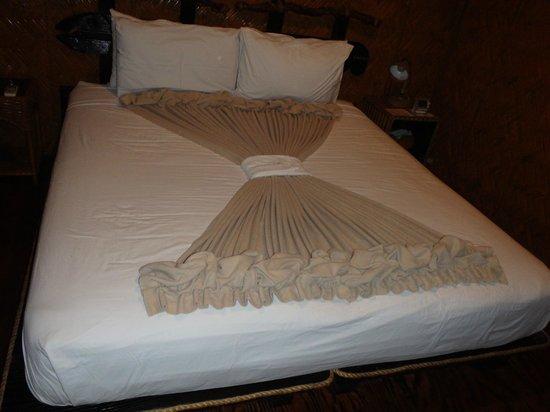 Palau Plantation Resort: ベッドメイク