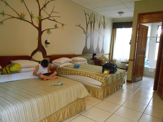 Adventure Inn: Our spacious bright room