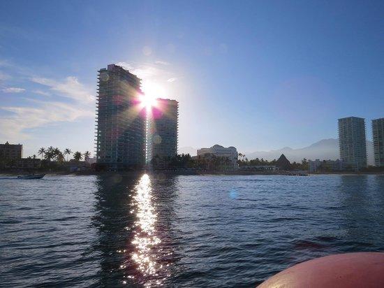 Hilton Puerto Vallarta Resort : Buildings lining the beach