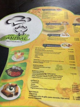 Don Anibal Restaurante Col-Mex: Menu
