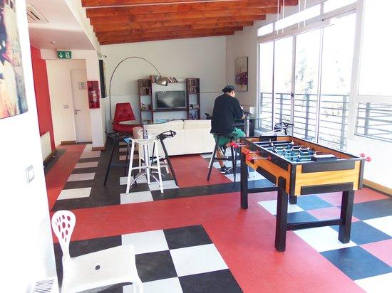 H Rado Hostel : área pra relaxar