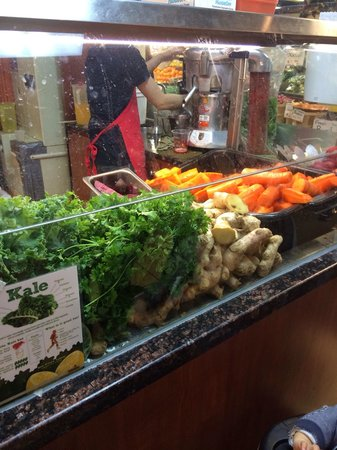 St. Lawrence Market: Freshly squeezed juice-  tried the kale carrot apple ginger, it was really good!