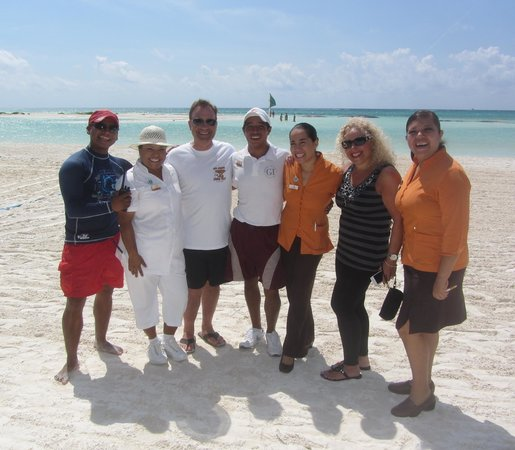 El Dorado Maroma, by Karisma: my wife and I with some of the El Dorado Maroma family