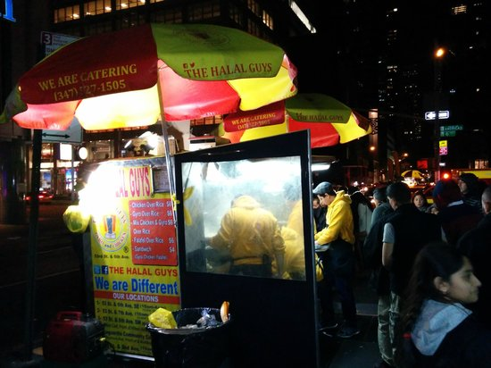 The Halal Guys: Hope you can see the menu in this picture.