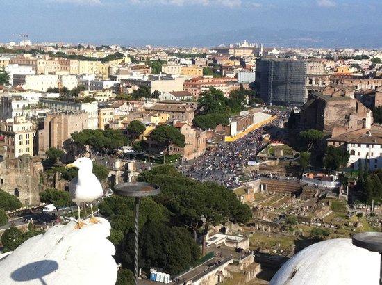 Roma Dal Vittoriano 1 Foto Di Roma Dal Cielo Terrazza Delle