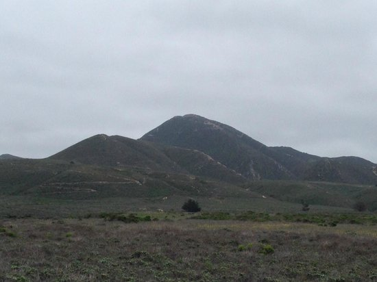 Valencia Peak Trail : View from the parking.  Peak is the highest point.
