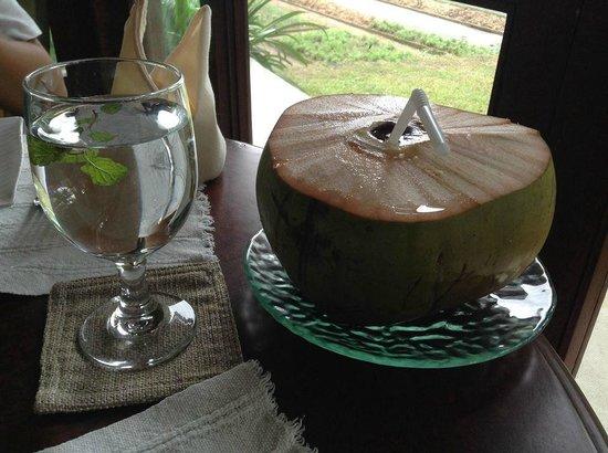 The Farm at San Benito: coconut juice