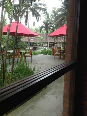 The Farm at San Benito: outside the restaurant