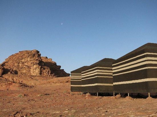 Wadi Rum Mirage Camp: early mornining in camp