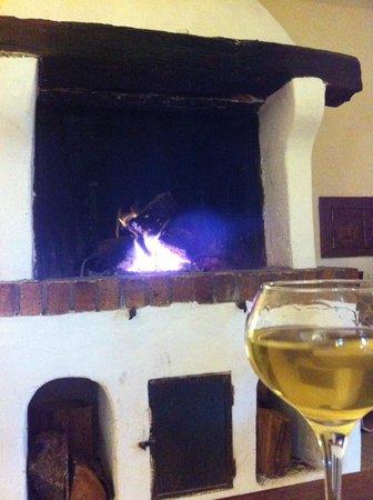 Auberge du Vieux Village : une petite flambée le soir