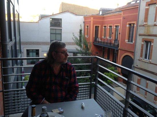 Privilege Appart Hôtel Clément Ader : балкон