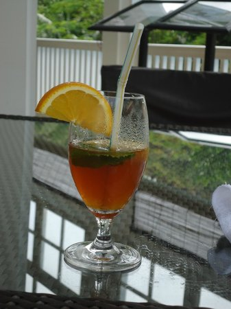 Hotel L'Archipel: welcoming drink