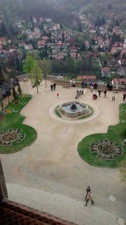 Wernigerode Castle: Vista do jardim de entrada