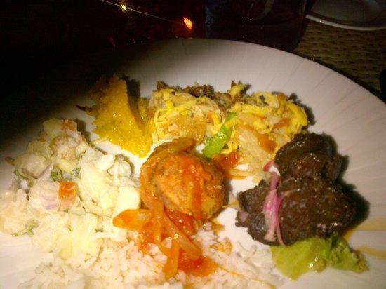 Hotel L'Archipel: wonderful creole food