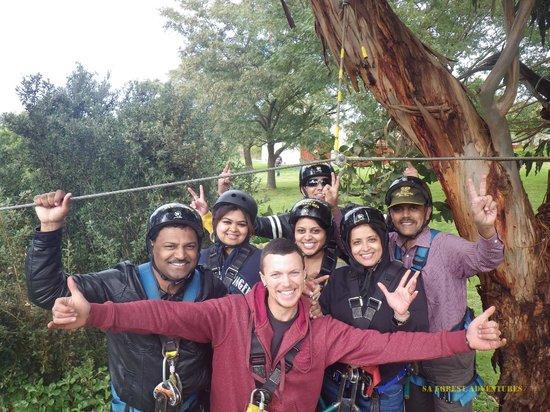 SA Forest Adventures : Ziplines tour 1.3 km