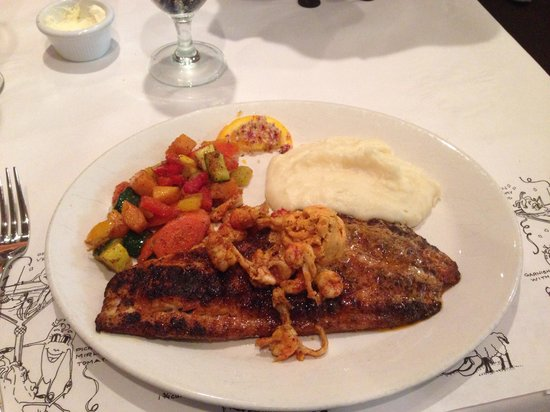 K-Paul's Louisiana Kitchen : The famous Blackened Drum Fish main