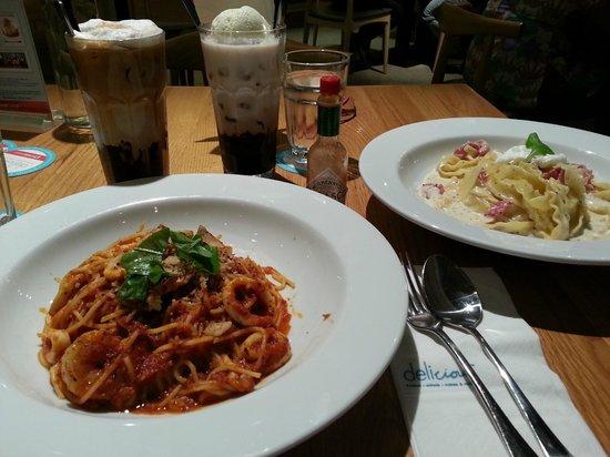 Delicious: pasta dinner