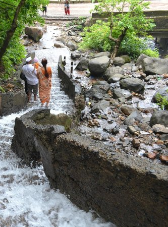 Amboli: Steps leading up to the waterfall