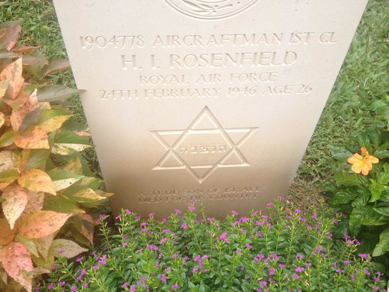 Commonwealth War Cemetery: The one Jewish soldier buried there
