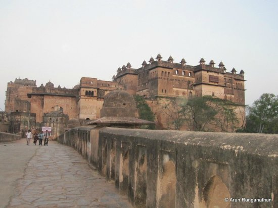 Orchha Fort : The fort from outside