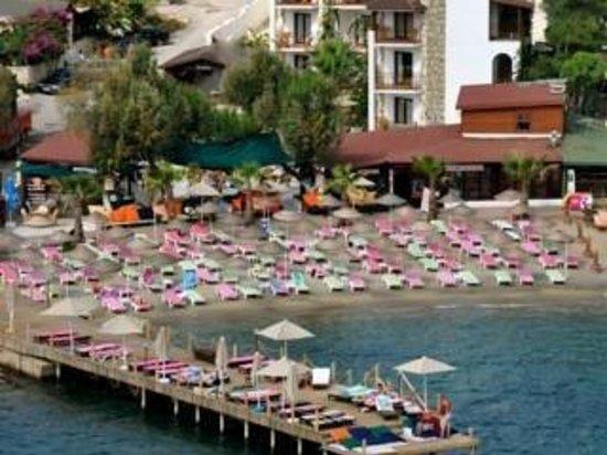 Salinas Beach Hotel: Plaj alanı