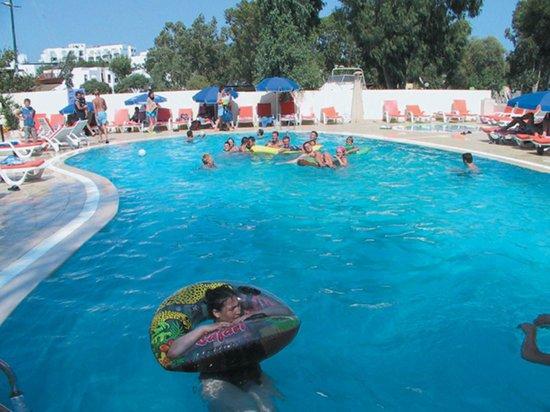 Salinas Beach Hotel: Havuz/Plaj alanı