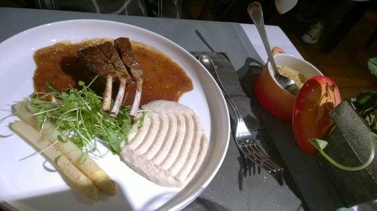 Restaurant Valentijn: Plat 1 - agneau