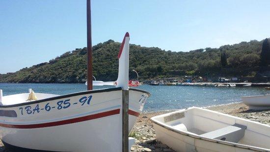 Hotel Calina: Playa del hotel Portlligat