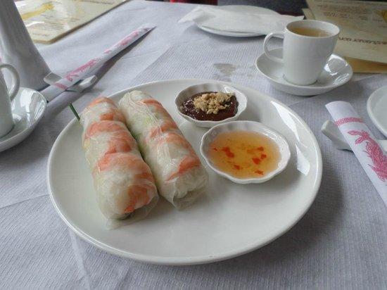 V-Namese Restaurant: Summer Rolls.(Prawn and other options)