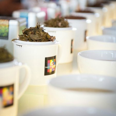 The t-Lounge on Chatham Street by Dilmah : Tea display at The t-Lounge