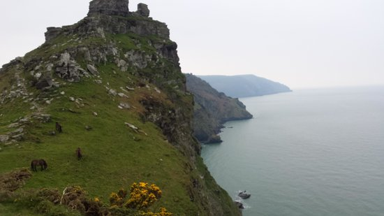 Exmoor Forest Inn: Lynton coast view