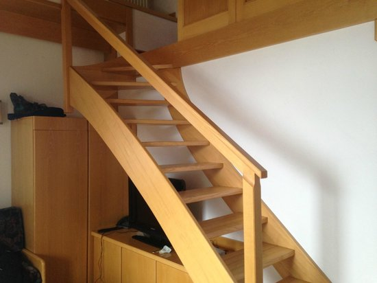 Hotel Cristiania: stairs up to bedroom