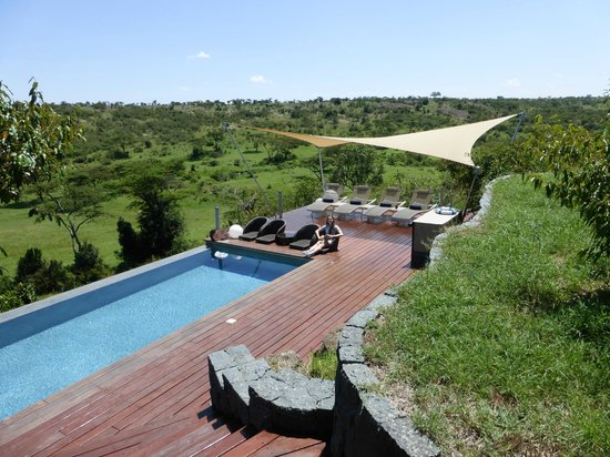 Mahali Mzuri - Sir Richard Branson's Kenyan Safari Camp: Fab view from the camp