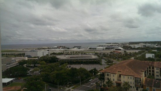 Hilton St Petersburg Bayfront: View from 14th floor looking at the airport and Bay.